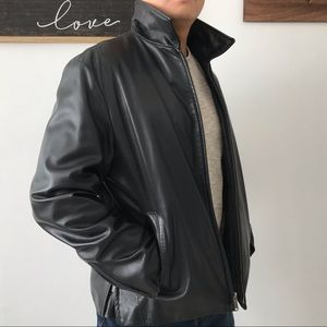 Banana Republic Genuine Leather Jacket Men Size M